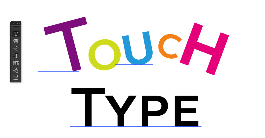 Touch Type in Illustrator CC