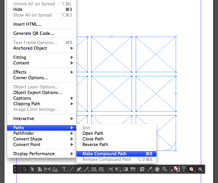 Creating Compound Path in InDesign